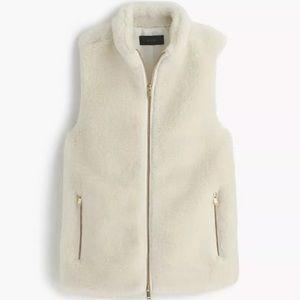 J. Crew plush fleece Winter excursion vest